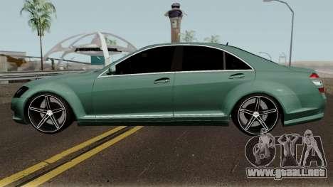 Mercedes-Benz S500 Vossen para GTA San Andreas left