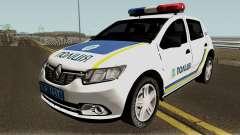 Renault Sandero 2013 La Policía De Ucrania para GTA San Andreas