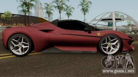 Ferrari J50 2017 para GTA San Andreas vista hacia atrás