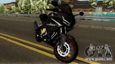 Honda CBR 500R Modified 2016 para visión interna GTA San Andreas