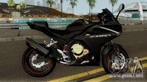 Honda CBR 500R Modified 2016 para GTA San Andreas vista hacia atrás