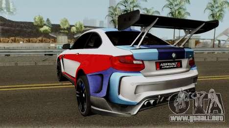 BMW M2 Special Edition From Asphalt 8: Airbone para GTA San Andreas vista posterior izquierda