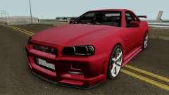Nissan Skyline GTR R-34 Stock para GTA San Andreas