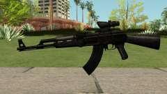 AK47 Black para GTA San Andreas