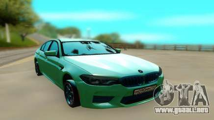 BMW M5 F90 Green para GTA San Andreas