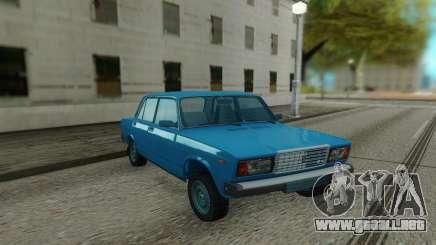 2107 sedán Azul para GTA San Andreas