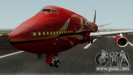 Boeing 747-400 Malaysia Airlines Hibiscus Livery para GTA San Andreas