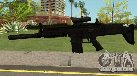 SCAR-H-A1 BLACK para GTA San Andreas