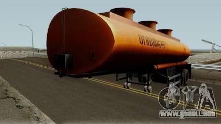 Remolque tanque NefAZ para GTA San Andreas