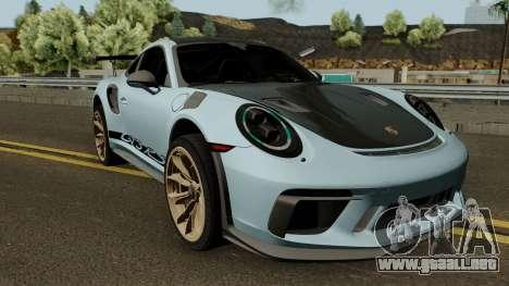 Porsche 911 GT3 RS 2018 para GTA San Andreas