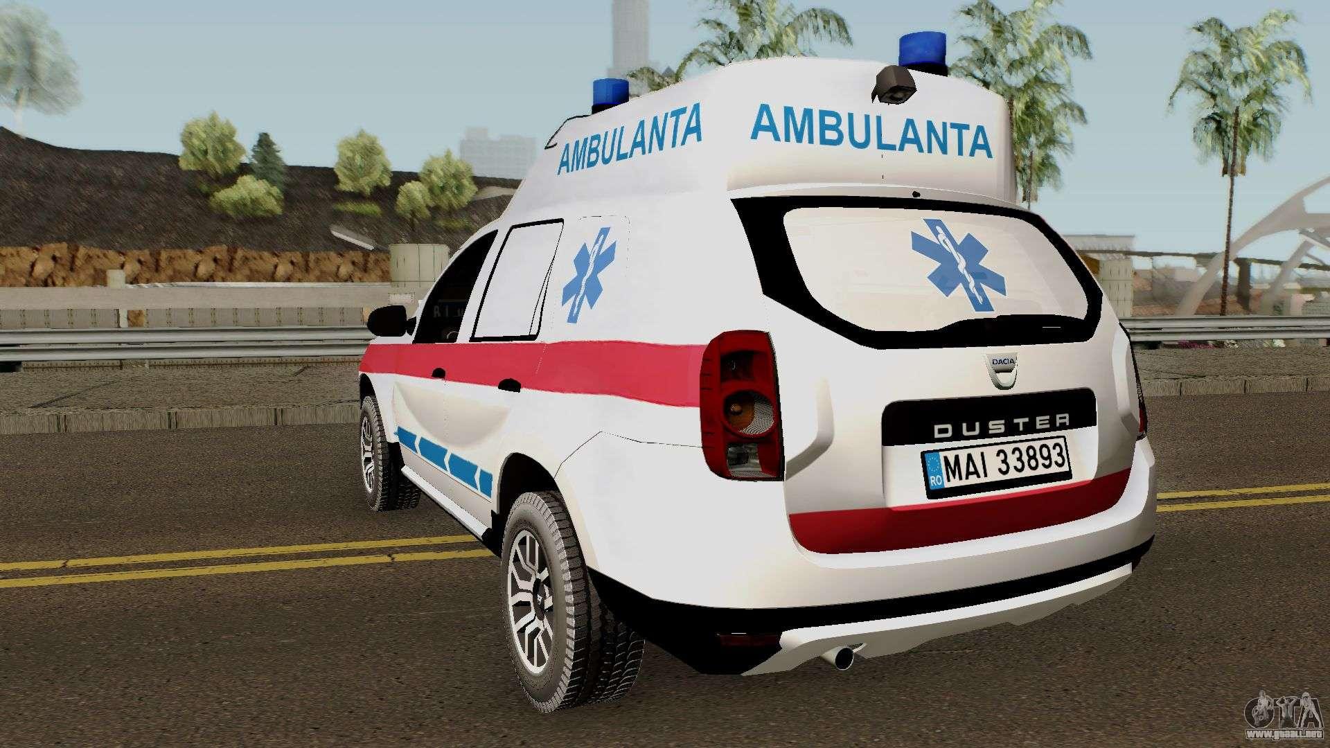 Dacia Duster Ambulanta 2018 Para Gta San Andreas