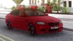 BMW M5 F10 Red RUS Plate para GTA San Andreas