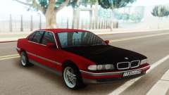 BMW 730 E38 Red Black para GTA San Andreas
