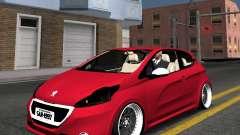 Peugeot 208 GTI black STANCE para GTA San Andreas