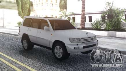 Toyota Land Cruiser 105 White para GTA San Andreas