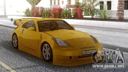 Nissan 350Z Yellow Tuning para GTA San Andreas