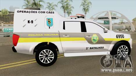 Nissan Frontier 2017 (Policia Militar) para GTA San Andreas