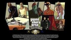 GTA SA pantallas de Carga de 15 años de aniversa
