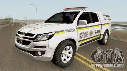 Chevrolet S10 2017 (Brigada Militar RS) para GTA San Andreas