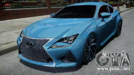 Lexus RC F para GTA 4