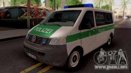 Volkswagen Transporter T5 Polizei para GTA San Andreas