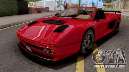 GTA V Grotti Cheetah Classic Spyder para GTA San Andreas