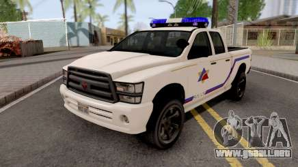 Bravado Bison 2013 Hometown PD Style para GTA San Andreas
