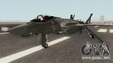 Lockheed Martin F-35A Lighting II Gray para GTA San Andreas