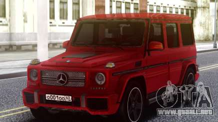 Mercedes-Benz G65 Red AMG para GTA San Andreas