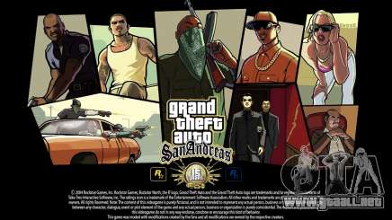 GTA SA pantallas de Carga de 15 años de aniversario para GTA San Andreas