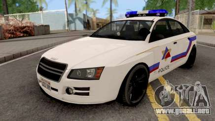 Obey Tailgater 2012 Hometown PD Style para GTA San Andreas