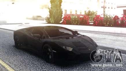 Lamborghini Aventador Black LP700-4 para GTA San Andreas