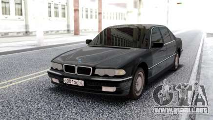 BMW 750i E38 Black Sedan para GTA San Andreas
