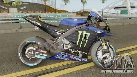 Yamaha YZR-M1 2019 Valentino Rossi para GTA San Andreas