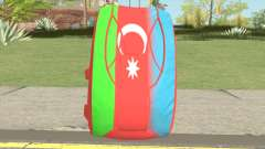 New Parachute (Azerbaijan Flag) para GTA San Andreas