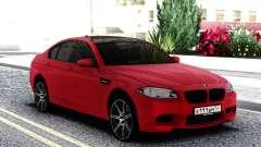 BMW M5 F10 Sedan Red para GTA San Andreas