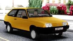 VAZ 2108 de Exportación del reino unido Amarillo para GTA San Andreas