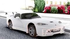 Dodge Viper GTS White para GTA San Andreas