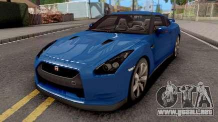 Nissan GT-R R35 Blue para GTA San Andreas