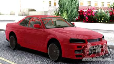 Nissan Skyline R-34 Red para GTA San Andreas