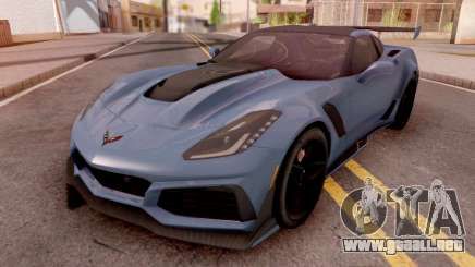 Chevrolet Corvette ZR1 2019 Blue para GTA San Andreas