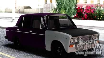 VAZ 2106 Berenjena con blanco para GTA San Andreas