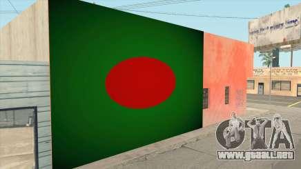 Bangladesh Flag Wallgraffiti para GTA San Andreas