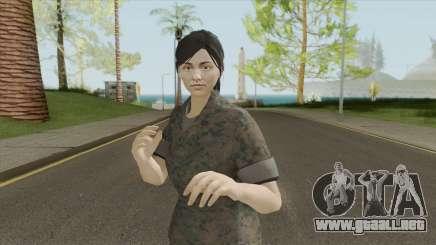 GTA Online Random Skin 29 (Female U.S. Miltary) para GTA San Andreas