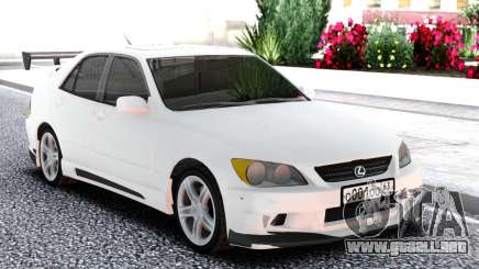 Lexus IS300 White Sedan para GTA San Andreas