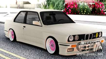 BMW E30 White Sedan para GTA San Andreas