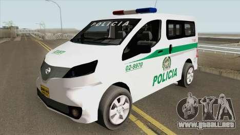 Nissan NV200 (Patrullas Colombianas) para GTA San Andreas