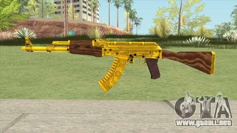 AKM Gold Cartel Skin para GTA San Andreas