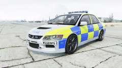 Mitsubishi Lancer Evolution VIII British Police para GTA 5