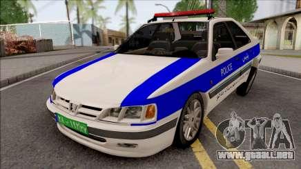Peugeot Pars ELX Police para GTA San Andreas
